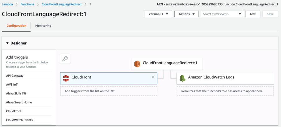 Cloudfront Language Redirect